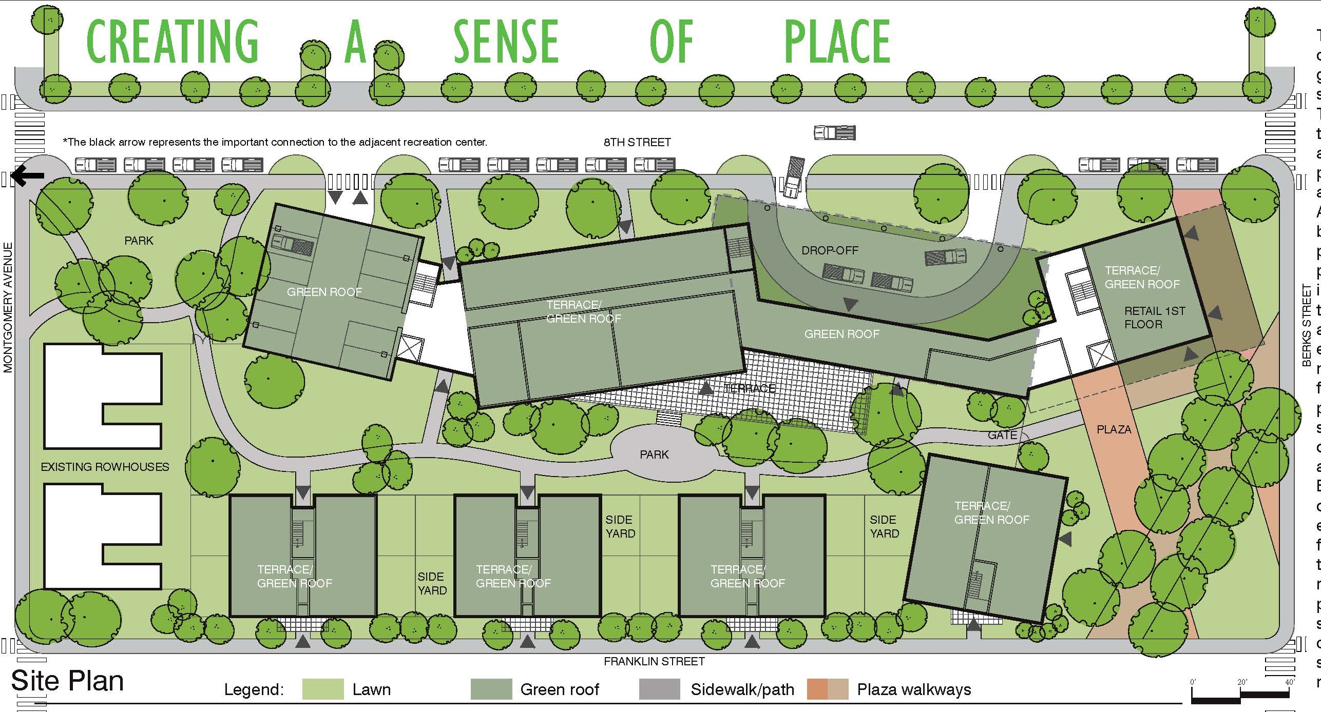 Landscape Site Plan for 8th and Berks Streets , Credit: Community Design Collaborative