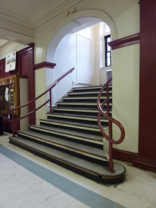 photo of recreation center stairs