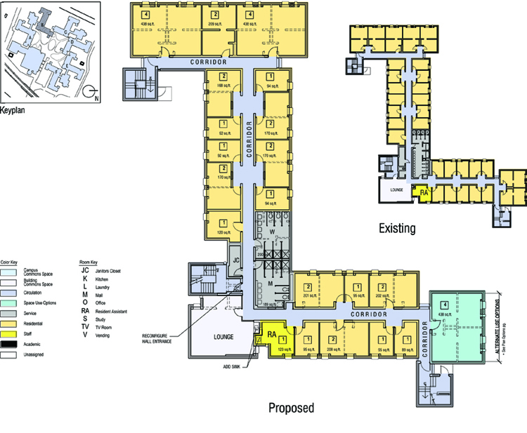 Bwa Architecture Planning East And West Campus Dormitory Master Plan